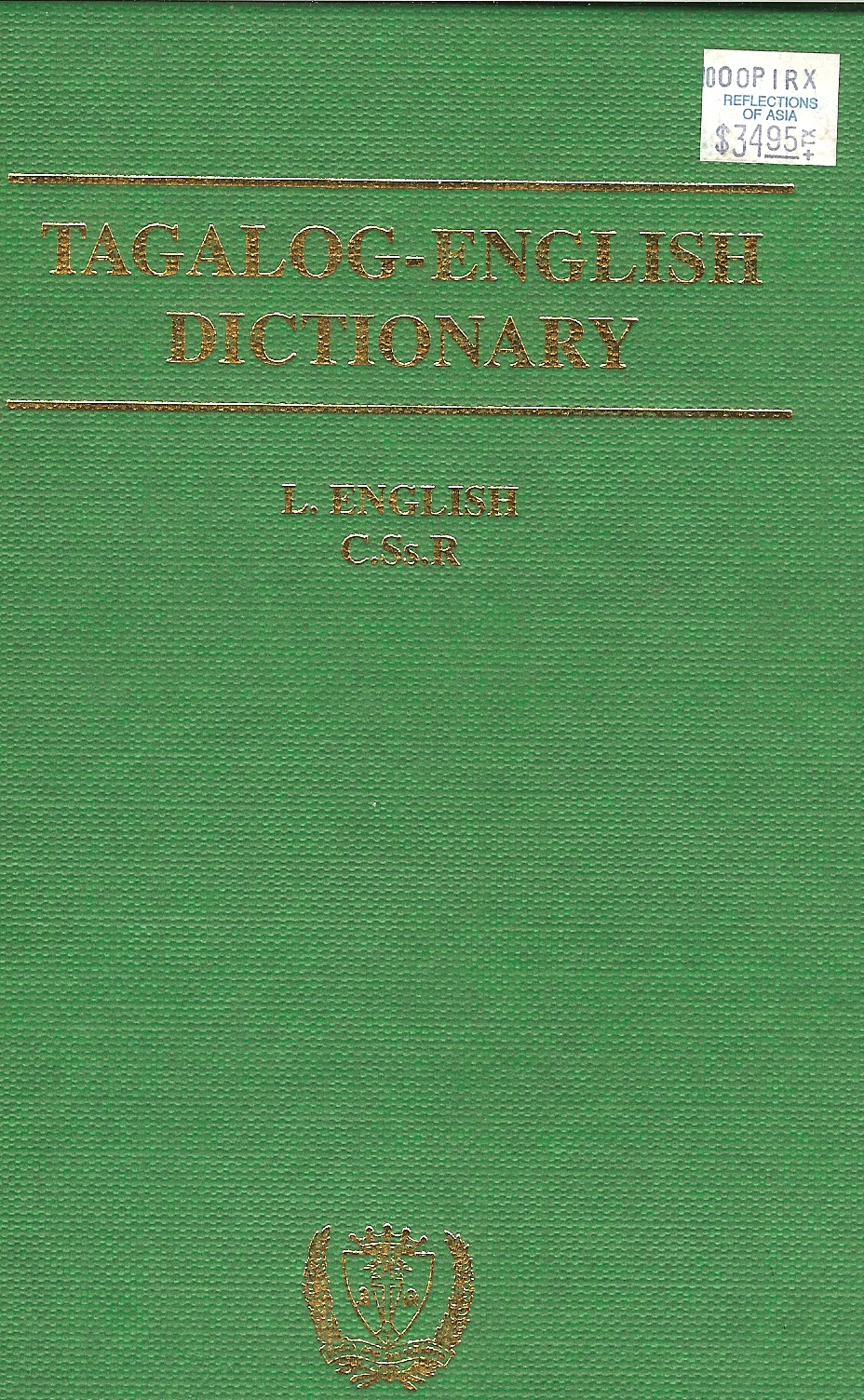 Tagalog english dictionary by l english english tagalog dictionary by