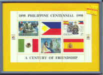 Philippine Centennial stamps - framed Philippine stamps.jpg (72070 bytes)