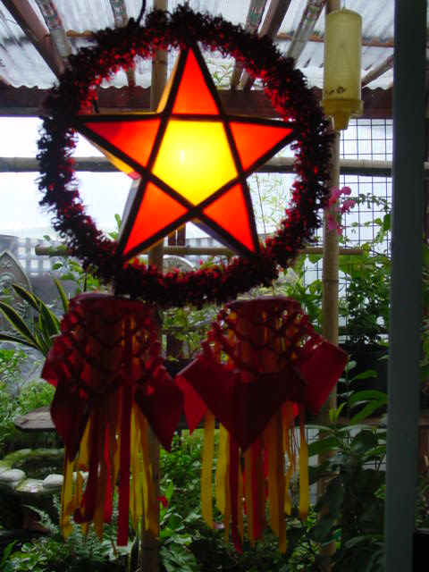 The parol bears a striking resemblance to the Pentacle, a pagan symbol